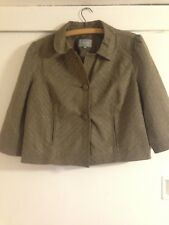 Women's Marks and spencer Per Una Jacket Brown and Gold Size 18