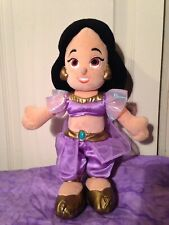 "Walt Disney Aladdin Jasmine Stuffed Plush Princess Doll toy 12"" Princess baby"