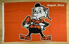 New listing Retro Cleveland Browns 3x5 ft Flag Nfl Banner Dawg Pound