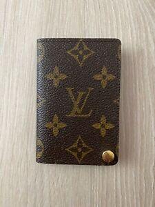 Louis Vuitton Porte Carters Monogram Leather Brown ID Card Holder Wallet