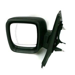 Renault Traffic Van II 2014 Onward Black LHS Passenger Electric Door Mirror  New