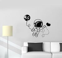 Wall Decal Astronaut Space Universe Love Moon Way Valentine's Day Vinyl (ed639)