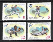 Rep of China Taiwan 2001 #3388-91 Set of 4 Baseball World Cup Issue XF MNH