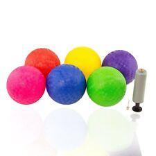 "6pc Playground Dodge Ball  5 "" Textured Sports Kick Ball w Hand Pump LOT"