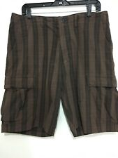 Patagonia Mens 35 Brown Striped Organic Cotton Cargo Shorts