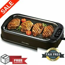 New listing Smokeless Indoor Electric Grill Power 1200 Watts Xl Non-Stick Bbq As Seen On Tv
