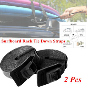 2X Multi-functional Roof Luggage Rack Surfboard Surf Tie Down Straps 3M Durable