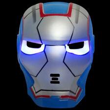 Iron man Mask Kids Fancy Dress Superhero Hero Blue Ironman Masks Marvel LED Eyes