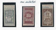 ITALIA Regno - Sassone 116/8f NUOVI linguellati varieta': NON DENTELLATI - DANTE