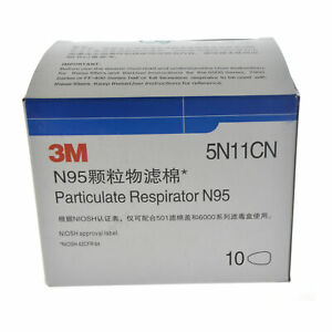 10pc 5N11CN Cotton Filter Face Gas  For Series 3M 5000 6000 7000