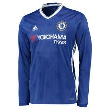 Camisetas de fútbol 1ª equipación de manga larga en azul