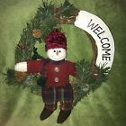 An Adorable Snowman in a Sweater 'Welcome' Wreath!.