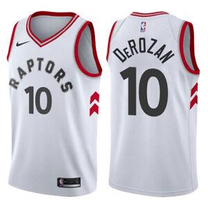 DeMar DeRozan #10 Toronto Raptors Men's N White Jersey