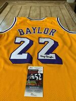 Elgin Baylor Autographed/Signed Jersey JSA COA Los Angeles Lakers LA