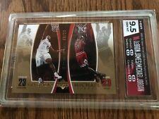 2005-06 Upper Deck Lebron James/Michael Jordan Gold Bonus Pack 06/23 HGA 9.5!