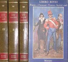 LIBERO BOVIO POESIE E CANZONI TEATRO SCRITTI VARI MORANO 1971 3 VOLL. COFANETTO