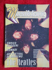 rivista MUSIKBOX 27/1999 Beatles Nomadi Enrico Ruggeri  No cd