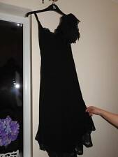 Karen Millen - Stunning black silk and lace cocktail dress- Size 10