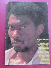 Vtg Sport memorabilia West.Indies CRICKET Player Roger Harper Picture postcard