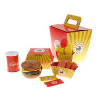 Fast Food Durable Pretend Playset Hamburger French Fries Toy for Kid Toddler