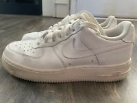 Nike Air Force 1 Casual Shoes Sz 8.5 Y White Sneakers 314192-117 P12B3875B