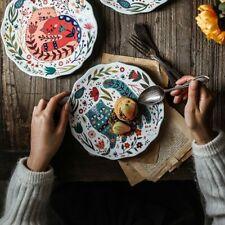 Ceramic Creative Carton Household Plate Dishes Tableware Dinner Dessert Plates