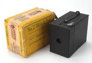 KODAK NO.2 HAWKEYE MODEL C, MADE IN THE UK, WITH ORIGINAL BOX/cks/189070
