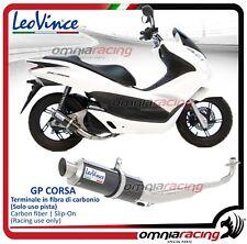 Leovince GP CORSA Auspuff komplett carbon Honda PCX 125 150 2012>2016