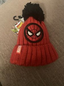 Boys Next Marvel Spiderman Beanie Hat, Age 1-2 Years, New