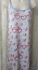 MUNKI MUNKI NITE NITE Night gown Sleepwear REd White Blue Glasses NEW SMALL