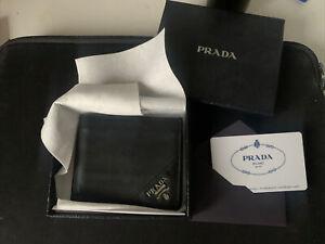 Authentic Men's Prada Saffiano Bifold Wallet