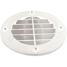 Marine/Boat Seat & Compartment Louvered Vent Cover White