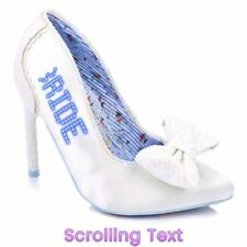 Irregular Choice Just Married Scrolling LED Text Wedding Shoes EU 41 UK 7.5