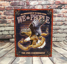 We The People.Metal Sign for Man Cave, Garage or Bar - American Pride