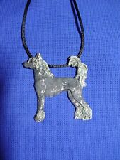 Chinese Crested Standing necklace Ooak pewter Dog Jewelry by Cindy A. Conter