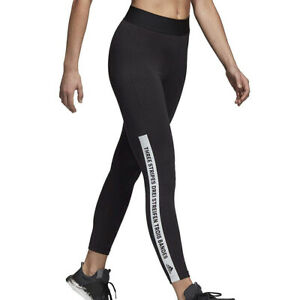 adidas Sport ID Womens Leggings Black White Running Gym Training Fitness Pants
