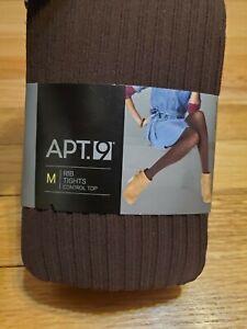 Apt. 9 Brown Ribbed Tights
