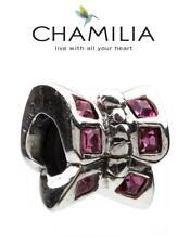 Autentico Chamilia 925 argento Sterling Charm Bead Rosa Farfalla, Estate