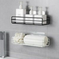 Kitchen Bathroom Shower Shelf Rack Organizer Storage Holder Wall Mounted Basket