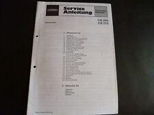 Original Service Manual Grundig CB 200 CB 210