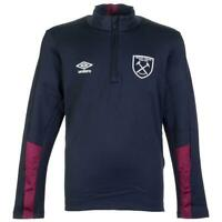 West Ham United Umbro Childrens Half Zip Dark Blue Football Training Top 2016 17