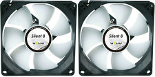 2 x GELID Solutions Silent 8 80mm Case Fans 1600 RPM, 20.7 CFM, 18.0 dBA