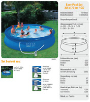 INTEX PISCINA EASY SET 305X76CM art. 56922gs