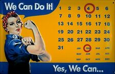 We Can Do It! Frauenpower Kalender Blechschild Calendar Tin Sign 20 x 30 cm