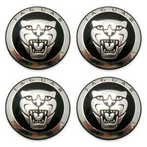 Jaguar Center Caps OEM 8W93-1A096 Wheel Black XF X S Type 10-17 Set