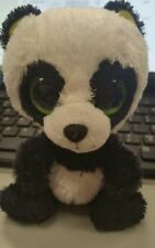 "Ty Beanie Boo 6"" Plush Doll  Bamboo panda bear lime green eyes 2012 no hang tag"