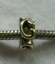 """UNBRANDED SOLID 14k GOLD """"SCROLL WORK"""" CHARM BEAD SPACER"""