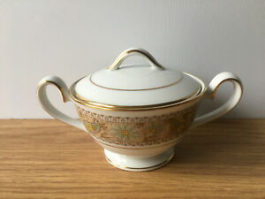 Vintage 1970s Noritake Autumn Time 2258 Lidded Sugar Bowl