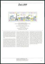 FRANCE MINISTERE PTT 1989 PARIS EIFFEL TURM TOWER NOTRE DAME z2010