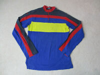 VINTAGE Ralph Lauren Polo Long Sleeve Shirt Adult Medium Yellow Blue Mens 90s *